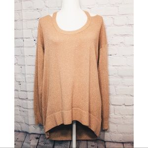 NWOT MK Gold Shimmer Cold Shoulder Sweater